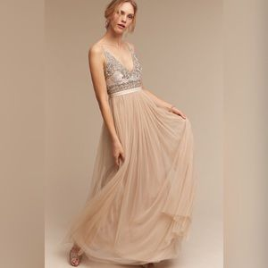 BHLDN Needle & Thread Brisa Dress Anthropologie